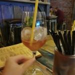 Vodka & Fruit Vodka,citronová štáva,pampeliškový bitters,domácí ovocná limonáda